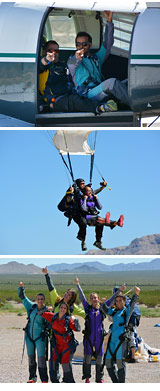 Skydiving Las Vegas - CLOSEST DROPZONE TO THE STRIP - 15,000ft