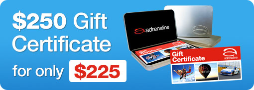 Adrenaline $250 Gift Certificate for $225